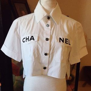 Chanel Runway White Top Shirt